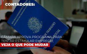 Camara Aprova Programa Para Tentar Estimular Emprego Veja O Que Pode Mudar Notícias E Artigos Contábeis - Contabilidade em São Paulo | Pizzol Contábil
