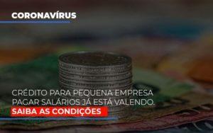 Credito Para Pequena Empresa Pagar Salarios Ja Esta Valendo Notícias E Artigos Contábeis - Contabilidade em São Paulo | Pizzol Contábil