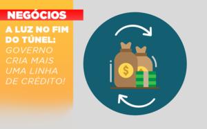 A Luz No Fim Do Tunel Governo Cria Mais Uma Linha De Credito Notícias E Artigos Contábeis Em São Paulo | Pizzol Contábil - Contabilidade em São Paulo | Pizzol Contábil
